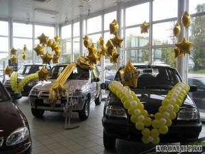 Украшение машины на свадьбу шарами