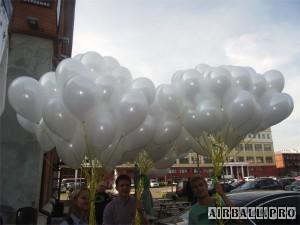 облако из воздушных шаров