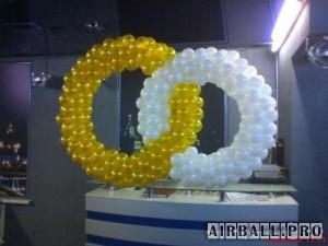 кольца из воздушных шаров