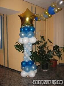 Стойки из воздушных шаров