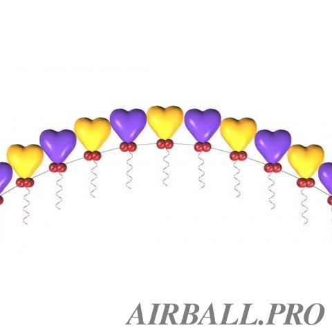 Гелиевая цепочка из шаров - с любовью