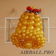 Фигуры из воздушных шаров - колокольчик бескаркасный