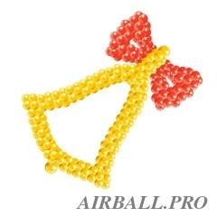Фигуры из воздушных шаров - колокольчик на каркасе