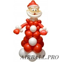 Фигуры из шариков - Дед Мороз!