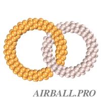 Два переплетенных кольца из шаров