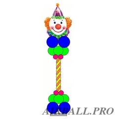 Стойки из шаров с клоуном