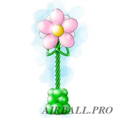 Стойки из шаров - цветок